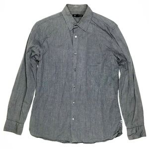 John Varvatos Mens Long Sleeve Button Down Shirt